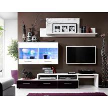 Obývací stěna BALI bílá/černá