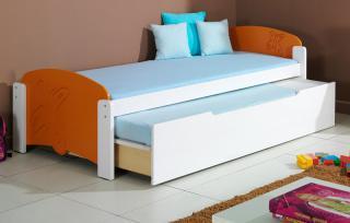 Dětská postel MARUŠKA 2 vysouvací 90x200cm