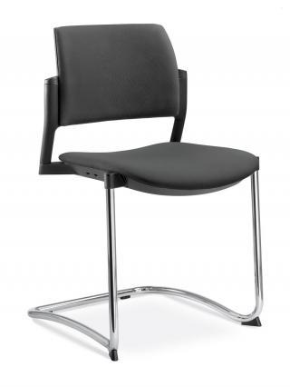 Jednací a konferenční židle DREAM+ 104-BL-N4, konstrukce chromovaná