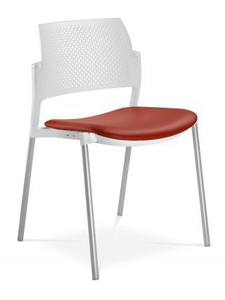 Jednací a konferenční židle DREAM+ 100-WH-NO, konstrukce bílá