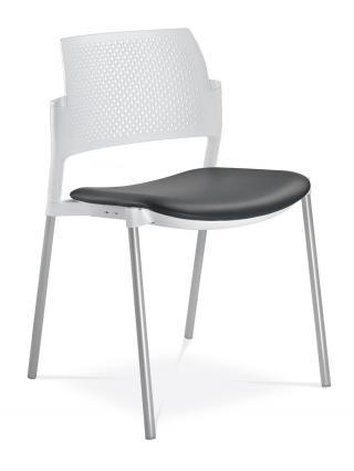 Jednací a konferenční židle DREAM+ 100-WH-N2, konstrukce eferkt hliník