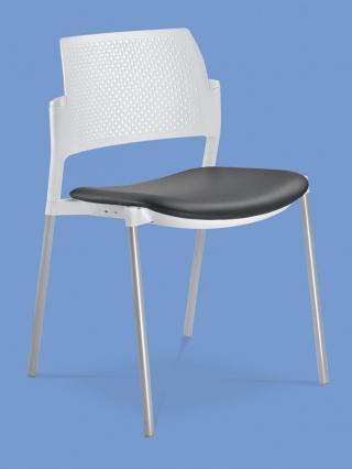Jednací a konferenční židle DREAM+ 100-WH-N4, konstrukce chromovaná