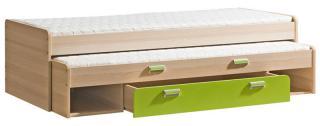 LIMO L16 výsuvná postel, úložný prostor, zelená