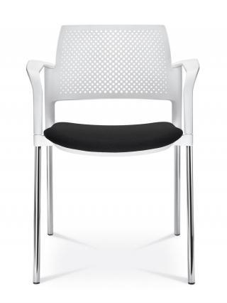 Jednací a konferenční židle DREAM+ 100-WH/B-N1, konstrukce černá, područky