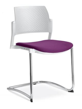 Jednací a konferenční židle DREAM+ 101-WH-N1, konstrukce černá