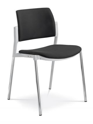 Jednací a konferenční židle DREAM+ 103-WH-N2, konstrukce efekt hliník