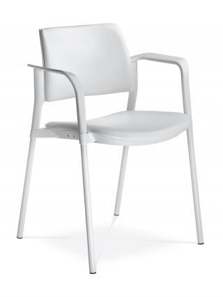 Jednací a konferenční židle DREAM+ 103-WH/B-N2, konstrukce efekt hliník, područky