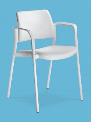 Jednací a konferenční židle DREAM+ 103-WH-N4, konstrukce chromovaná, područky