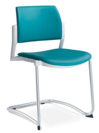 Jednací a konferenční židle DREAM+ 104-WH-N2, konstrukce efekt hliník