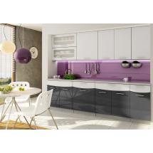 Kuchyně SMILE textile 240 s dvojvýklopem