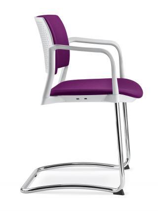 Jednací a konferenční židle DREAM+ 104-WH/B-N1 konstrukce černá, područky