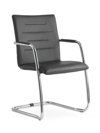 Kancelářská jednací a konferenční židle OSLO 225-N1, konstrukce černá