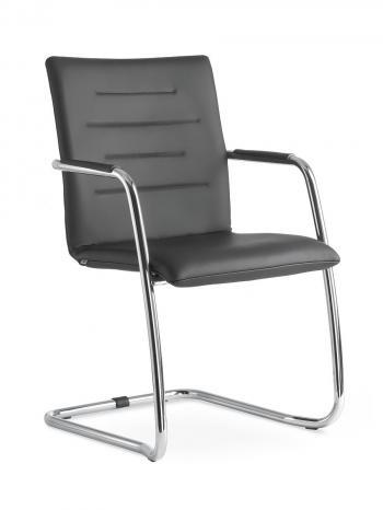 Kancelářská jednací a konferenční židle OSLO 225-N1, konstrukce černá LD SEATING 225-N1