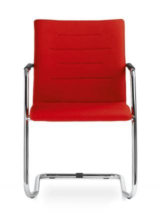 Kancelářská jednací a konferenční židle OSLO 225-N2, konstrukce efekt hliník