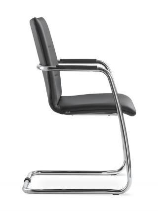 Kancelářská jednací a konferenční židle OSLO 225-N4, konstrukce chromovaná