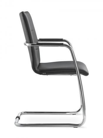 Kancelářská jednací a konferenční židle OSLO 225-N4, konstrukce chromovaná LD SEATING 225-N4