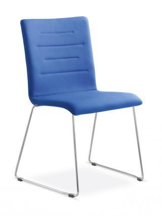 Kancelářská jednací a konferenční židle OSLO 226-N4, konstrukce chromovaná