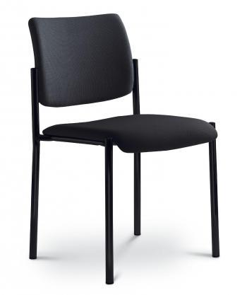 Kancelářská jednací a konferenční židle CONFERENCE 155-N1, konstrukce černá LD SEATING 155-N1