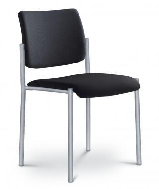 Kancelářská jednací a konferenční židle CONFERENCE 155-N2, konstrukce efekt hliník