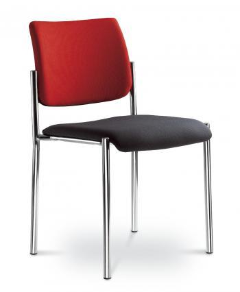 Kancelářská jednací a konferenční židle CONFERENCE 155-N4, konstrukce chromovaná LD SEATING 155-N4