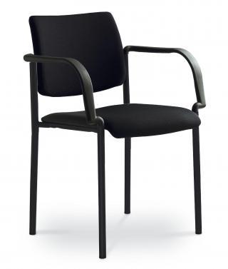 Kancelářská jednací a konferenční židle CONFERENCE 155-B-N1, konstrukce černá
