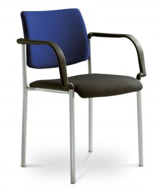 Kancelářská jednací a konferenční židle CONFERENCE 155-B-N2, konstrukce efekt hliník