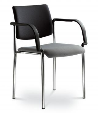 Kancelářská jednací a konferenční židle CONFERENCE 155-B-N4, konstrukce chromovaná