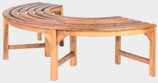 Teaková zahradní lavice AGNES II, kruhová