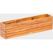 Teakový zahradní truhlík FIORI, 17x90x23cm