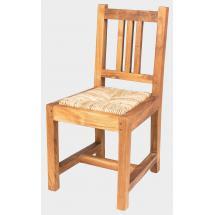 Dětská teaková židle NANDA MINI, sedák mořská tráva