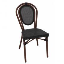 Zahradní ratanová židle LUCCA, černá