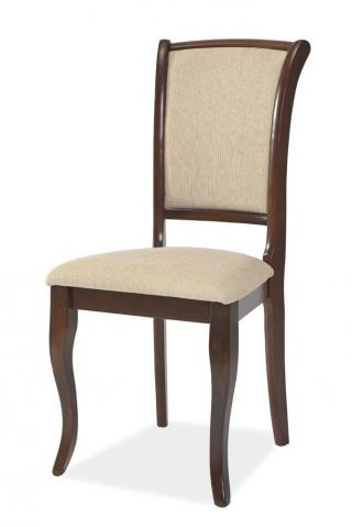 Jídelní čalouněná židle, ALICANTO, barva tmavý ořech