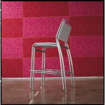 Židle BINGO H75 (textil, chrom)