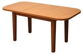 Rozkládací jídelní stůl ovál ŠTEFAN S021, 124/163,5x85cm
