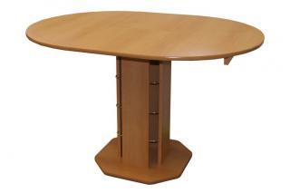 Rozkládací jídelní stůl TADEÁŠ S07, Ø 90cm