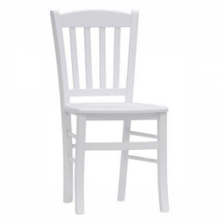 Jídelní a kuchyňská bílá židle VENETA, masiv