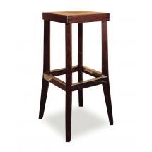 Židle barová DANIEL 371048, hladká, celodřevěná