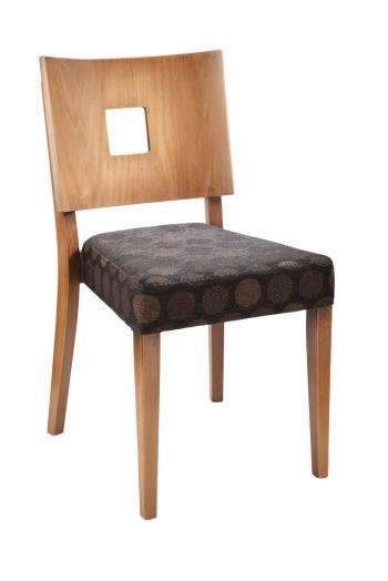 Židle EMA 313185, kůže L.A.Bernkop-KORYNA 313185