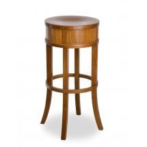 Židle barová ERNIE 371076, hladká, celodřevěná