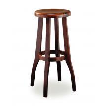 Židle barová RAUL 371650, hladká, celodřevěná