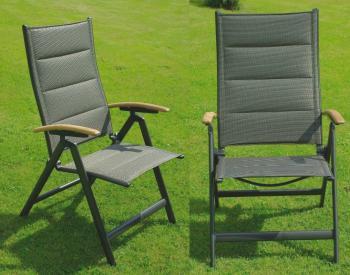 Zahradní židle - křeslo polohovací AMSTERDAM Doppler 259KE01116