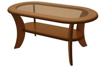 Konferenční stůl IGNÁC, ovál MDF+sklo Bradop K51