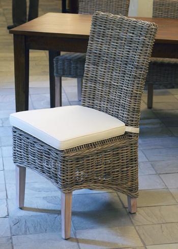Ratanová jídelní židle, přírodní ratan Kubu HD NABYTEK A10150