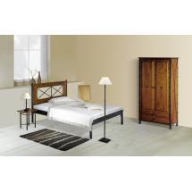 Kovová postel CHAMONIX 200x90 cm, smrk
