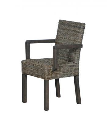 Ratanová židle s područkami, přírodní ratan Slimit HD NABYTEK A10390
