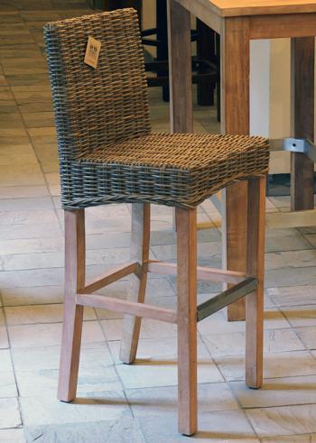Ratanová barová židle, přírodní ratan Kubu HD NABYTEK A10315_BE2