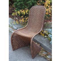 Ratanová židle PANTON, přírodní ratan Slimit, hnědá