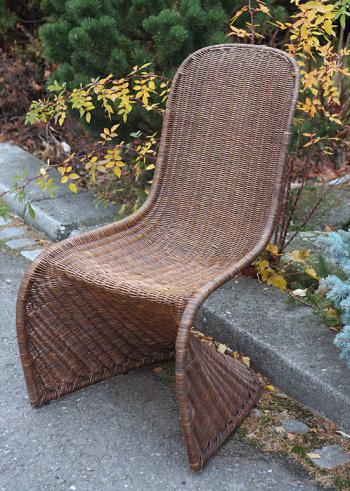 Ratanová židle PANTON, přírodní ratan Slimit, hnědá HD NABYTEK A10410