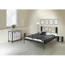 Kovová postel VALENCIA 200 x 180 cm