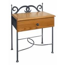 Noční stolek CARTAGENA, dřevo masiv, 50 x 66 x 30 cm